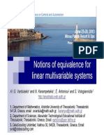 MED13 Notions of Equivalence for Linear Multivariable Systems