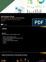 SAP Analytics Cloud Partner Enablement 27-06-2017