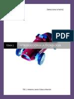 Tema 1 Tecnologia- Introducción a La Tecnología