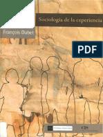 3 Dubet Francois Sociologia de La Experiencia