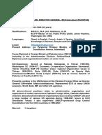 CV of Dr. Imtiaz a. Kazi Pakistan
