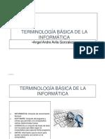 TERMINOLOGÍA BÁSICA DE LA INFORMÁTICA