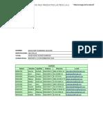 Taller N1. La Interfaz de Excel 2016