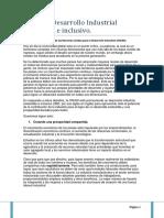 Informe Desarrollo Industrial Sostenible e Inclusivo.