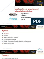 3 4 Tenneco Globally Rolls Out an Advanced Spend Analytics Solution Powered by HANA Enterprise Cloud HEC Tenneco Flexo
