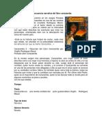 La Secuencia Narrativa Del Libro Carazamba