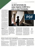 Diario Las Últimas Noticias de Santiago, Chile 31-01-2018 Ondas Del Terremoto de Arequipa Viajaron 2.000 Km y Llegaron a Juan Fernández.