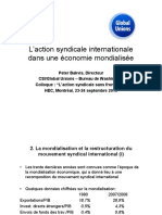 Laction Syndicale Internationale Dans Une Economie Mondialisee