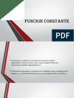 FUNCION CONSTANTE