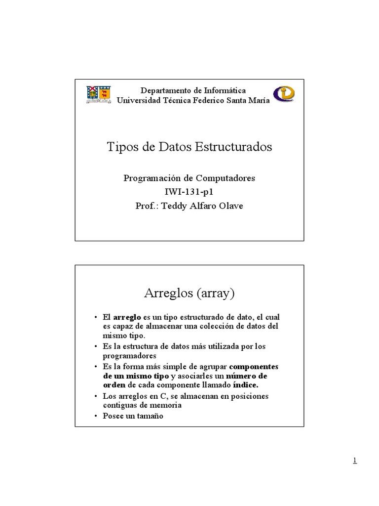 Arreglos Estructurados Estructura De Datos De Matriz