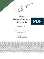 Sri Guru Granth Sahib Gurmukhi English Vol 1 Edition2.5 Nov 19 2015