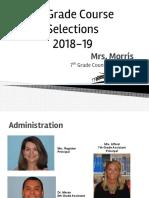 2018-19 7th grade course selection presentation