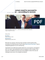 3 things women need to succeed in their career – according to women | World Economic Forum