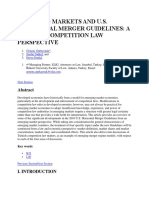 Emerging Markets and Us Meger Guidelines
