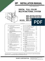 Instalation Manual - MX2010U - MX2310U - MX2610N-3110N-3610N