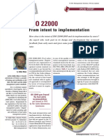 ISO22000 Blanc 2006 - Some Comments on Implementation