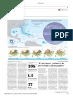 Diario La Tercera de Santiago, Chile 08-09-2017 Huracán Irma Desata Masivas Evacuaciónes en Cuba y Florida (3).