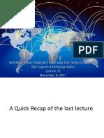 Lecture 12 Open Economy II
