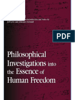 Friedrich Wilhelm Joseph Von Schelling-Philosophical Investigations Into the Essence of Human Freedom (S U N Y Series in Contemporary Continental Philosophy) (2006)