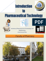 01. INTRODUCTION to Pharmaceutical Technology 2017
