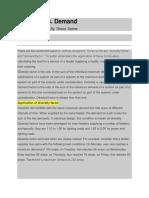 Diversity Factor vs Demand Factor