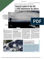 Diario Las Últimas Noticias de Santiago, Chile 08-09-2017 Estación Espacial Capta El Ojo Del Huracán Irma a 402 Kilómetros de Altura.