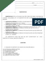 Atividade de Portugues Substantivos 4º Ou 5º Ano