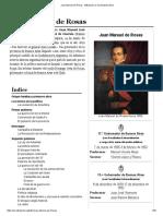 Juan Manuel de Rosas - Biografía Completa