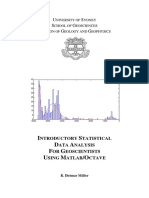 Introductory Statistical Data Analysis for Geoscientists Using Matlab