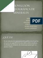 Proyección Estereográfica de Minerales1