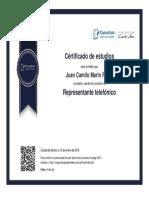 Certificado Servicio Al Cliente