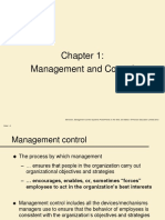 Chapter 1 MAnagement and Control
