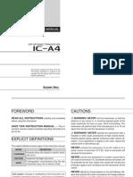 Icom IC-A4 Instruction Manual