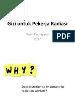 Gizi Untuk Pekerja Radiasi