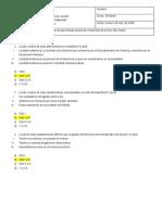 Prueba de Diagnostico 1º Medio (solucionario)