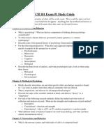 exam 1 study guide final