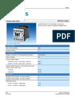 Datasheet Contator Siemens 3RT1017 1AN112