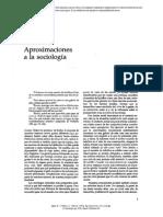 Aproximaciones a La Sociologia