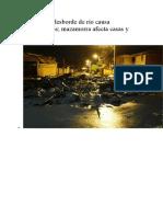 Inundacion en Tiquipaya 2018