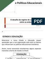 Estado e Políticas Educacionais - Regime de Colaboração