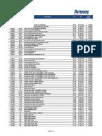 Lista de Costos Marzo 2018 Chile