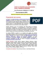 Difusión Economia social y solidaria  EGESS