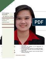 Camille P Sison Resume