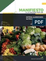 Manifiesto Sistema Alimentario Justo Sustentable