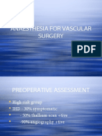 Vascular Anaesthesia Lecture