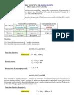 Ejemplo de Maximización Modelo Estandar