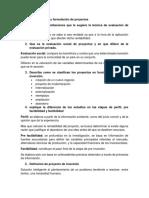 Examen Evaluación y Formulación de Proyectos