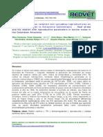 Articulo Estres Calorico vs Variable Reproductivas en Bovinos