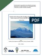 Evolucion de La Estrucutra Productiva y de Los Requerimeintos de Riego de La Cuenca