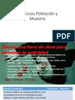 Ejercicios Población y Muestra